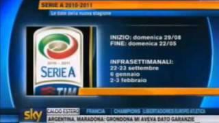 Calendario Serie A 2010/11