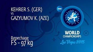 Repechage FS - 97 kg: K. GAZYUMOV (AZE) df. S. KEHRER (GER) by TF, 10-0
