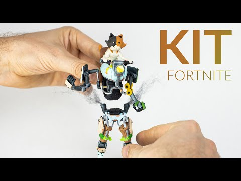 Creating KIT with Polymer Clay (Fortnite Battle Royale)