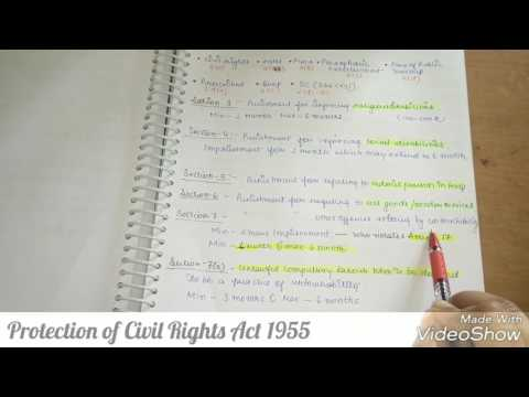 Protection of civil rights Act- 1955