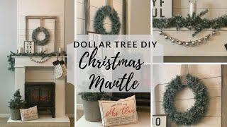 DOLLAR TREE CHRISTMAS DIY NEUTRAL MANTLE DECOR 2019