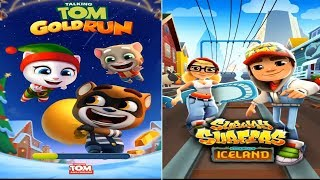 Talking Tom Gold Run FROSTY TOM VS Subway Surfers Iceland