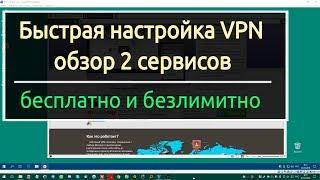 Безкоштовні VPN сервіси на комп.