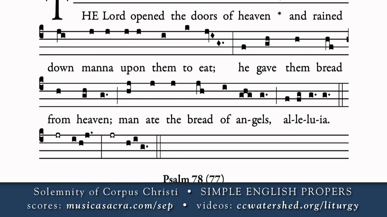 OFFERTORY (1) • Solemnity of Corpus Christi • SIMPLE ENGLISH PROPERS