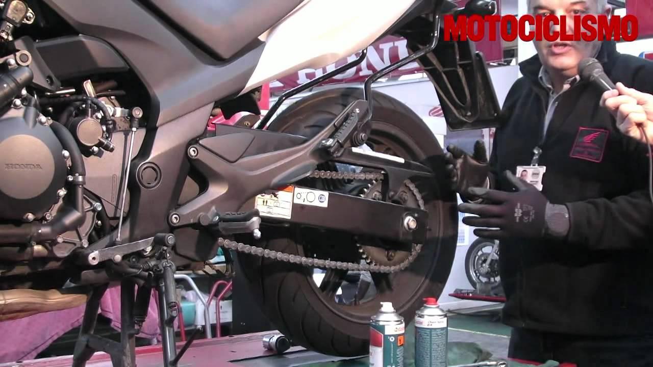 la manutenzione della catena della moto - motociclismo - youtube