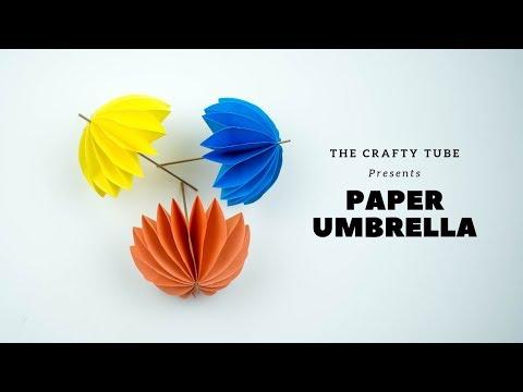 Paper Umbrella - How To Make Paper Umbrella - Cute And Easy Umbrella - DIY
