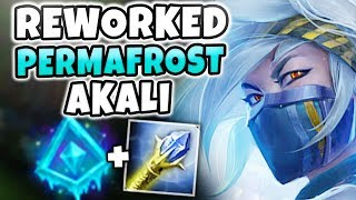 PERMAFROST REWORKED AKALI IS INSANELY OP! (INFINITE SLOWS) AKALI REWORK GAMEPLAY! League of Legends