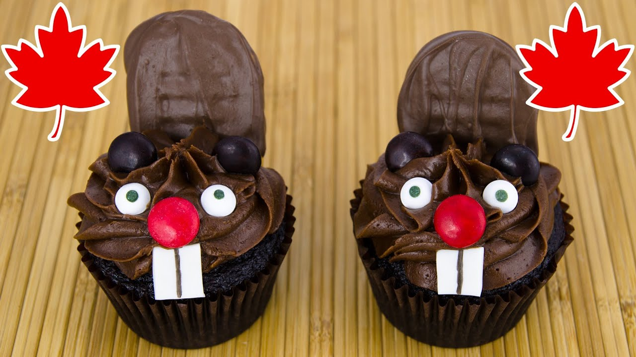 Beaver Cupcakes For Canada Day By Cookies And Cardio YouTube