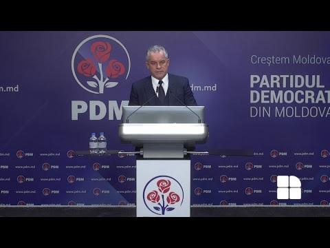 Briefing de presă - Partidul Democrat din Moldova