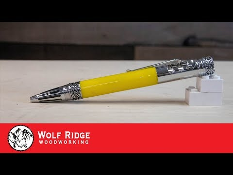 Woodturning: Gearshift Pen for a friend to match his FJ Cruiser