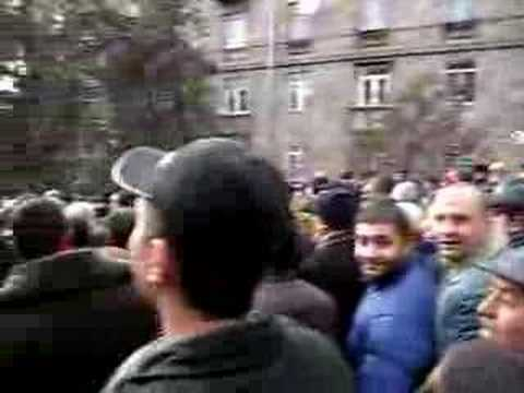 Armenia Protest 2008 Elections Yerevan Armenia