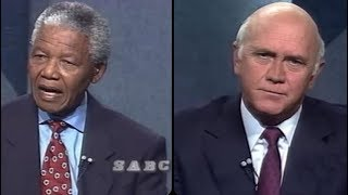 De Klerk, Mandela pre-election debate rebroadcast, 14 April 2019