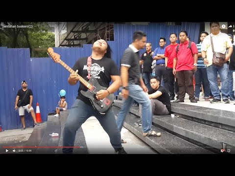 Sentuhan buskers,memang metal,solo dashyat giler-cikgu ayu,cek mek molek,rock & roll