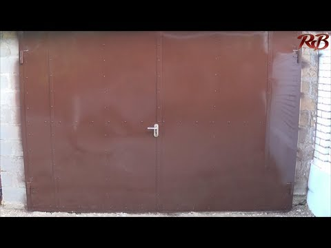 Как сделать гаражные ворота из профильной трубы