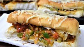 Masala Pav Recipe  Cheese Pav Pizza  Chilli Cheese Pav pizza  Masala Pav Mumbai