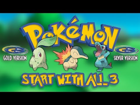 START With ALL 3 Starters In POKEMON GOLD & SILVER (Nintendo 3DS Virtual Console)