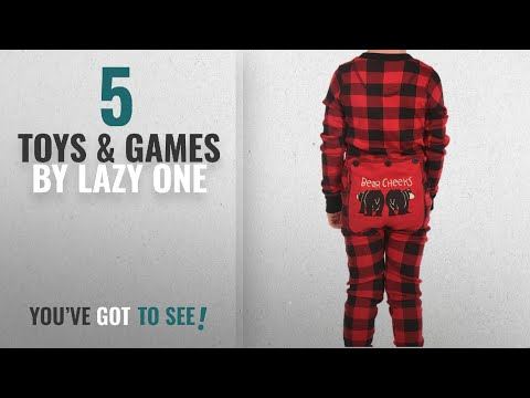 Top 10 Lazy One Toys & Games [2018]: LazyOne Kid's Flapjack Onesies - Decorative Trapdoor (4T, Bear
