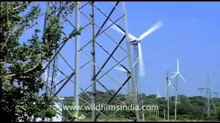 Giant power blades of wind turbines, Kerala!
