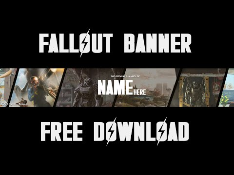 Free Fallout 4 Youtube Banner Template Download 2d Clean