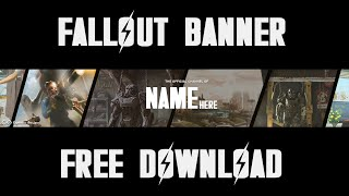 Free Fallout 4 YouTube Banner Template DOWNLOAD 2D Clean/Sleek