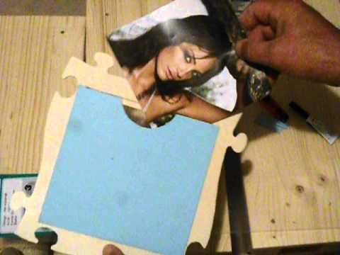 puzzle rahmen befestigung f r das bild youtube. Black Bedroom Furniture Sets. Home Design Ideas