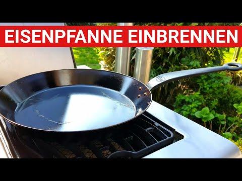ab9d071cdb GRILLBLITZ: Eisenpfanne einbrennen - perfekt! Erster Gebrauch Gusspfanne,  geschmiedete Pfanne