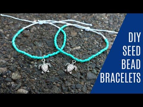 DIY Seed Bead Wax String Friendship Bracelets   Tutorial Inspired by Pura Vida Bracelets!