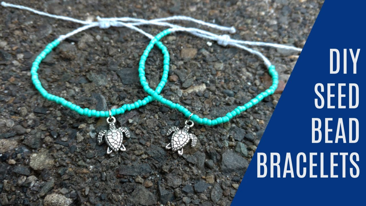 Diy Seed Bead Wax String Friendship Bracelets Tutorial Inspired By Pura Vida You