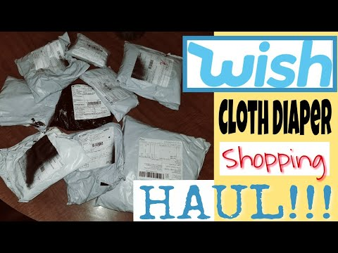 WISH APP- Cloth Diaper Haul!!