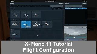 X-Plane 11 - Flight Configuration