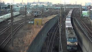 貨物列車 66レ~3076レ EF66-27 EF66-116 2019/02/03 川崎貨物駅