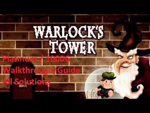 Warlock's Tower Quick & Easy Platinum Trophy / 1000G Achievement Guide All Solutions Walkthrough