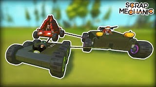 Competitive Racing Except Everyone is Attached with Ropes... (Scrap Mechanic Multiplayer Monday)