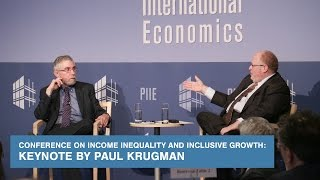Conference on Income Inequality and Inclusive Growth: Keynote by Paul Krugman