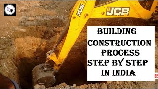 Building / House Construction Process step by step Upto SLAB