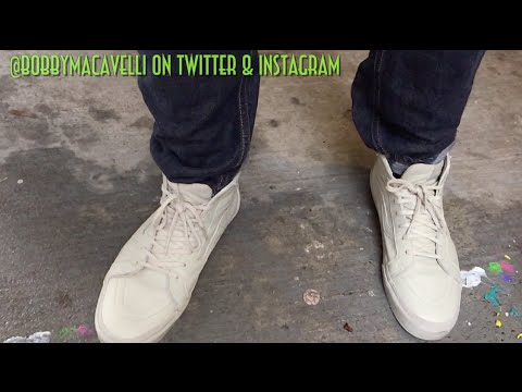Vans Sk8-Hi Zip Up CA (Boot Leather) Agate Gray Review   On Foot ... 1a30d6a778