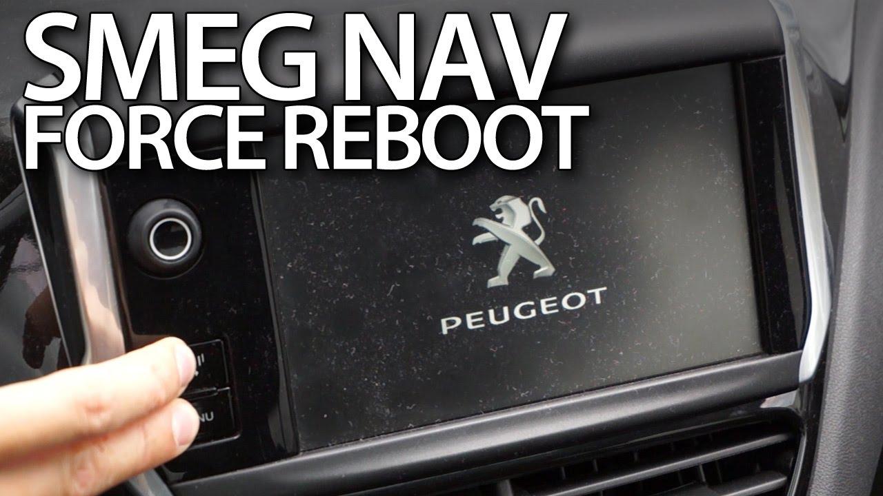 smeg navigation force reboot in peugeot and citroen - youtube
