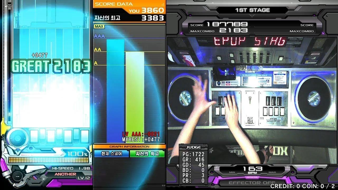 [조티] Beatmania IIDX 27 HEROIC VERSE - GENE SPA FULL COMBO (手元)