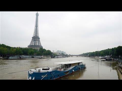 Seine River Overflows Paris Embankments