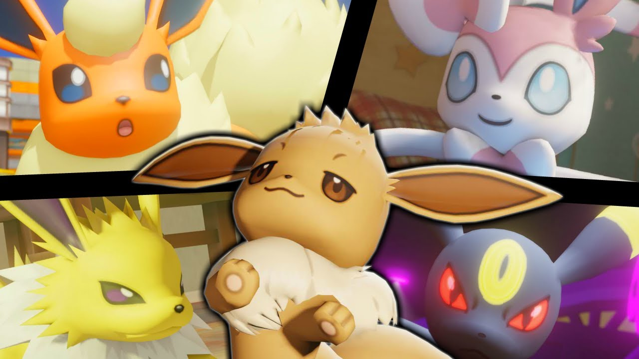 Download All 3D Pokémon animations _ Eevee Family & more.