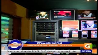 Behind the scene actions during Power breakfast show