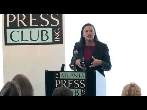 Dr. Meria Carstarphen speaks at The Atlanta Press Club, Inc.