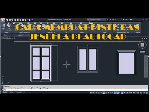 Cara Membuat Pintu Sederhana Menggunakan autoCad #2007 #caramudahbanget.