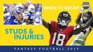 Week 11 Fantasy Studs & Injuries: Calvin Ridley, Amari Cooper,  Marlon Mack And More!