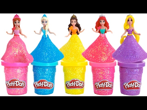 Learn Colors Play Doh Sparkle Disney...