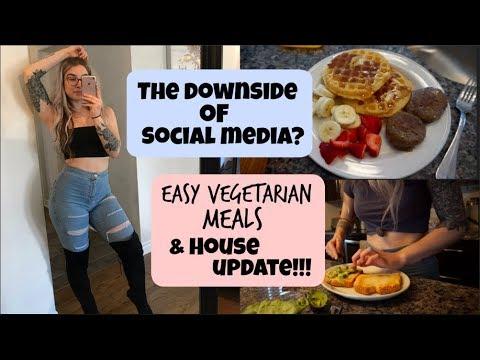 Easy Vegetarian Meals // The Downside Of Social Media + House Tour Update