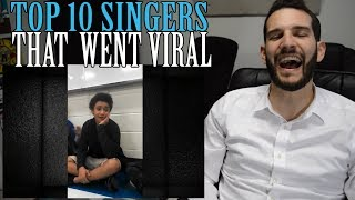 VOCAL COACH reacts to TOP 10 SINGERS WHO WENT VIRAL!