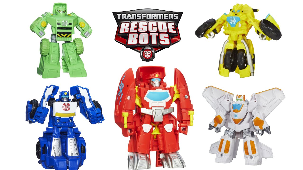 Rescue Bots Toys Bumblebee Heatwave Blades Chase Boulder Rescan From Season 2 And 3 Youtube