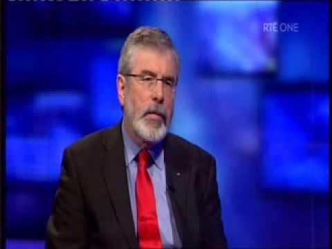 Gerry Adams interviewed on RTE Primetime