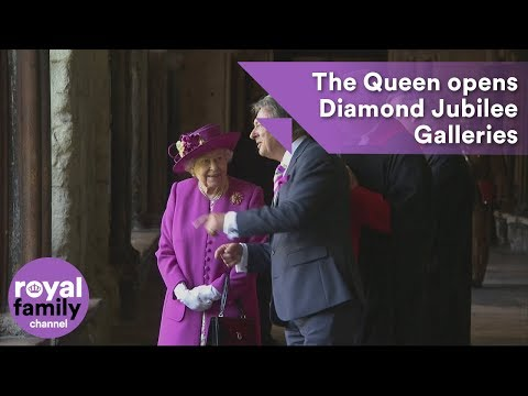 Queen opens Diamond Jubilee Galleries at Westminster Abbey